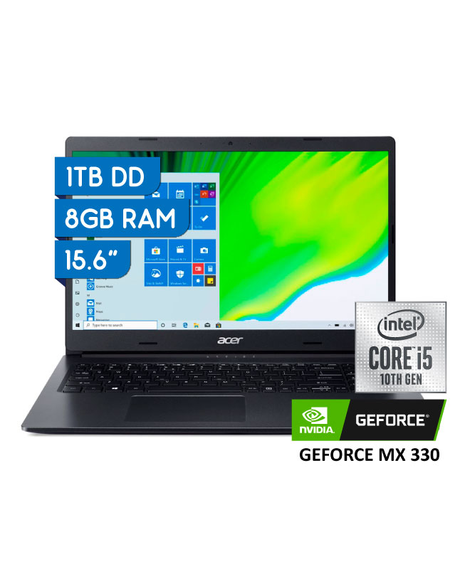 "Imagen para LAPTOP ACER ASPIRE 3 15.6"" CORE I5 10°GEN 1TB 8GB VIDEO MX 330 2GB                                                              de EFE"