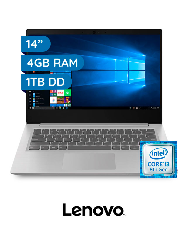 "Imagen para LAPTOP LENOVO IDEAPAD S145 CORE I3  4GB  1TB  14"" HD                                                                             de EFE"